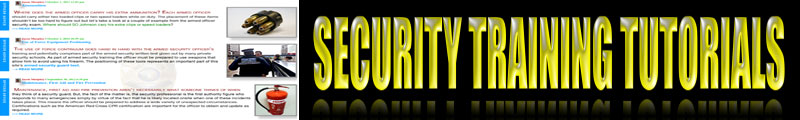 Security Guard Training Tutorials