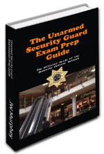 Unarmed Security Officer Exam Prep Guide Cover