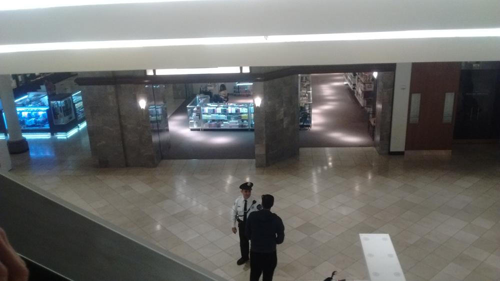 Security Guard Having Conversation